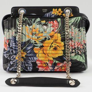 Fendi Dotcom Click SM Floral Quilted Bag NEW